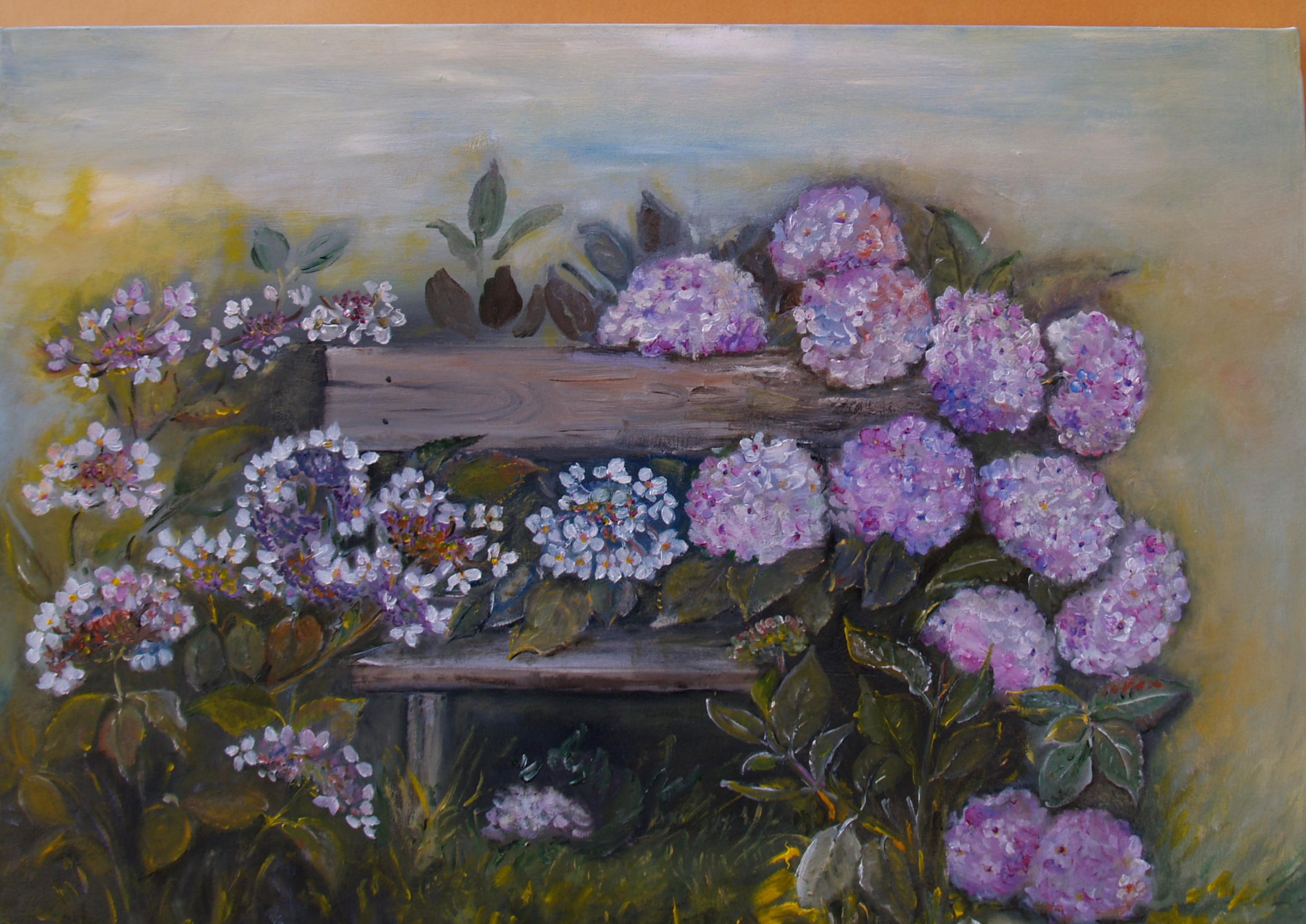 Quadri Con Ortensie : Quadri dipinti ortensie e piante